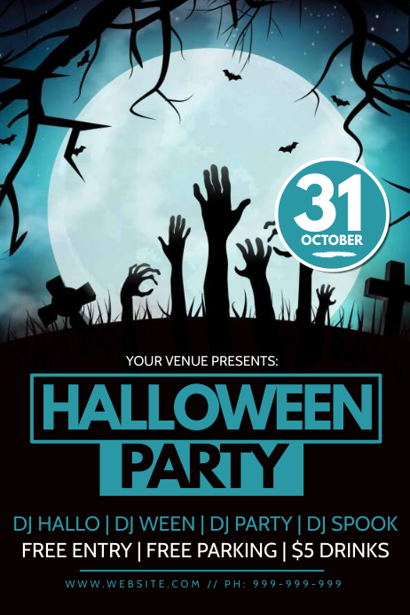 Halloween Party Poster Plakkaat template