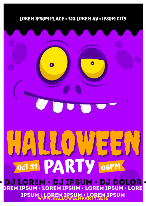 HALLOWEEN PARTY POSTER A4 template