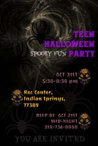 HALLOWEEN PARTY POSTER FLYER TEMPLATE
