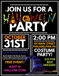 graphic about Free Printable Halloween Party Flyers named Personalize 3,350+ Halloween Templates PosterMyWall