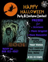 Customizable Design Templates For Halloween Costume Party Flyer - Halloween party flyer template