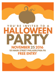 kids halloween party flyer templates free