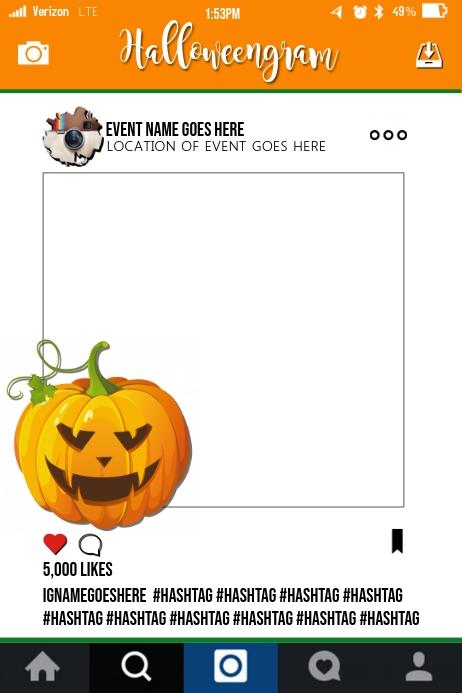 Plantilla de Marco de Utilería de Fiesta de Halloween | PosterMyWall