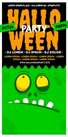 HALLOWEEN PARTY ROLL UP Rul-op banner 3' × 6' template