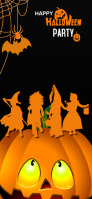 Halloween party Snapchat Geofilter template