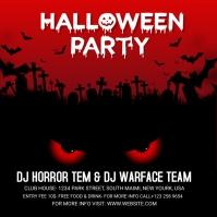 Halloween Party Social Media Template Wpis na Instagrama