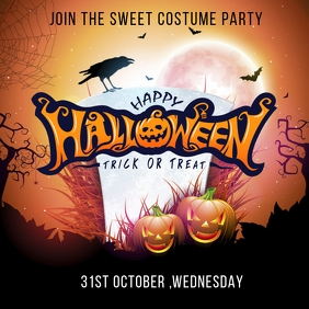 Halloween party template Wpis na Instagrama