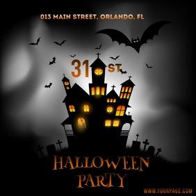 Halloween party template Instagram Plasing