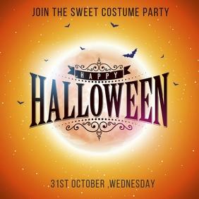 Halloween party template Сообщение Instagram