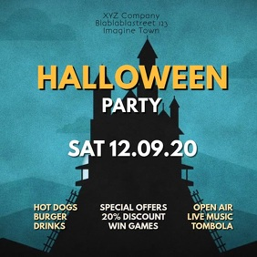 Halloween Party Video Advert Event Invitation
