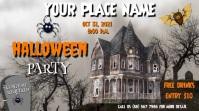 Halloween Party Video Digitalanzeige (16:9) template