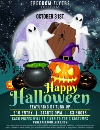 Halloween Party Video Flyer (US Letter) template