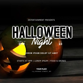 Halloween Party video instagram template