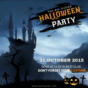 Halloween Party Video Invitation Template