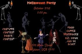 Halloween Party Video Flyer