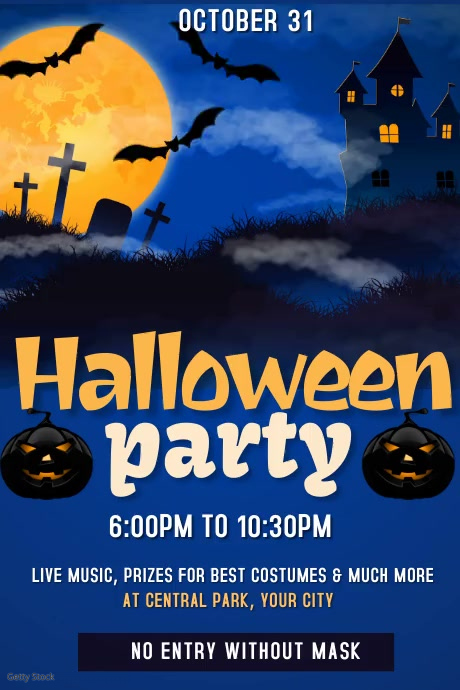 Halloween Party Video Poster Template 海报