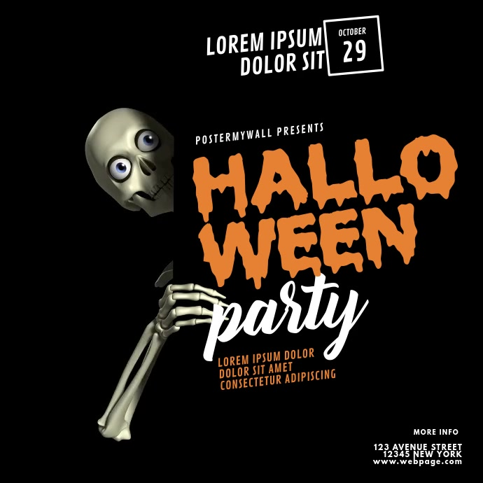 Halloween Party video promotion instagram template