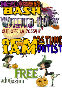 Halloween Party Witch Flyer