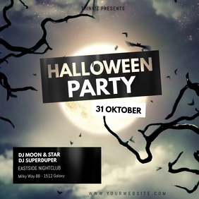 Halloween Partys Video Advert Night Moon Club