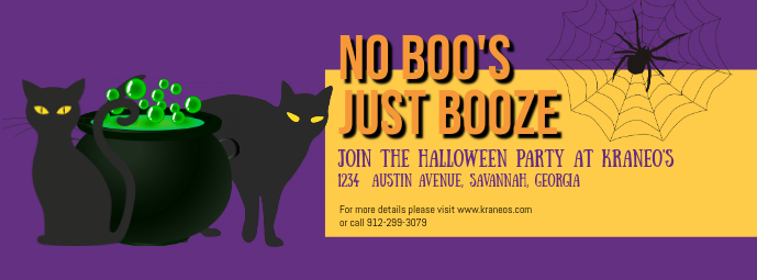 Halloween Pet's Party Event Facebook Cover Template