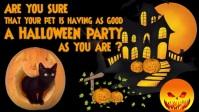 Halloween Pet Care Facebook video Facebook-omslagvideo (16:9) template
