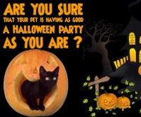 Halloween Pet Care Large Rectangle template
