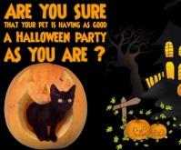 Halloween Pet Care Medium Rectangle template