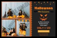 Halloween Photography Mini Session Etiqueta template