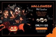 Halloween Photography Mini Session Etykieta template