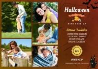 Halloween Photography Mini Session Postkort template