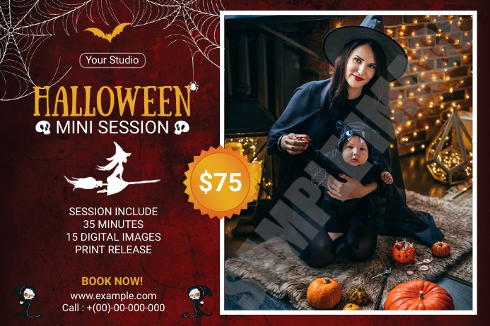 Halloween Photography Mini Session Étiquette template