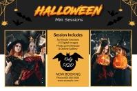 Halloween Photography Mini Session Этикетка template