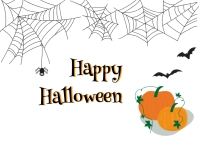 Halloween post Pocztówka template