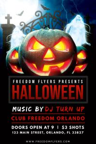 Halloween Poster Plakat template