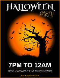 Halloween poster Folder (US Letter) template