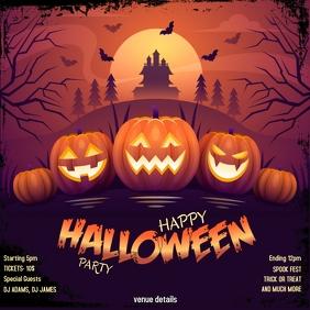 Halloween poster Publicación de Instagram template