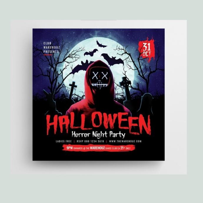 halloween poster Logo template
