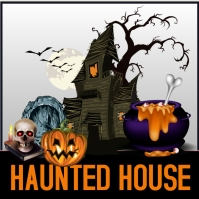 Halloween poster Wpis na Instagrama template