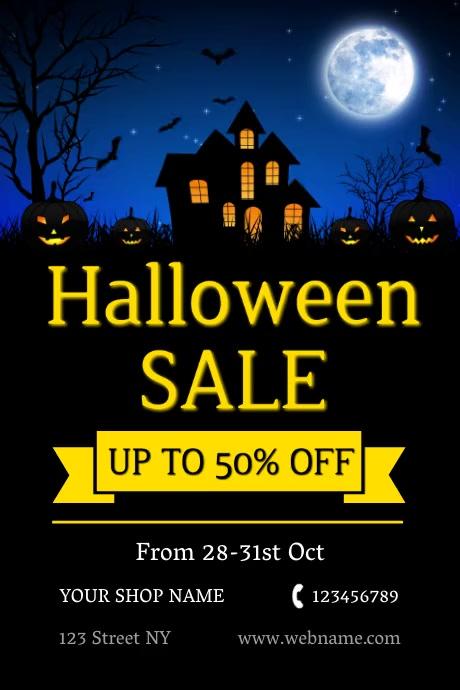 Halloween Poster Iphosta template