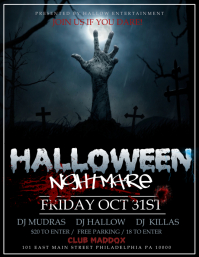 view template - Free Halloween Flyer Templates