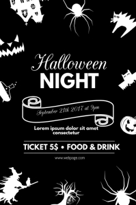 customizable design templates for halloween flyer template