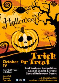 Halloween Poster template A4