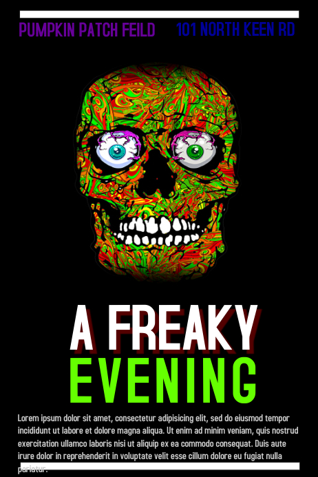 Halloween 海报 template