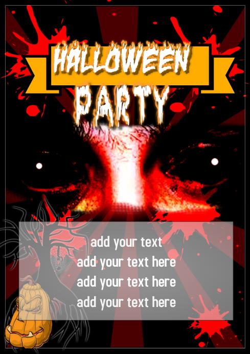 halloween flyer template A4