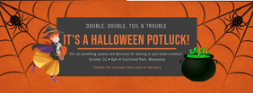 Halloween Potluck Event Invitation Facebook Cover Template