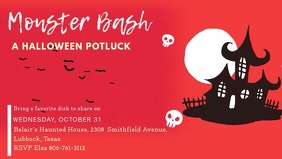 Halloween Potluck Facebook Cover Video