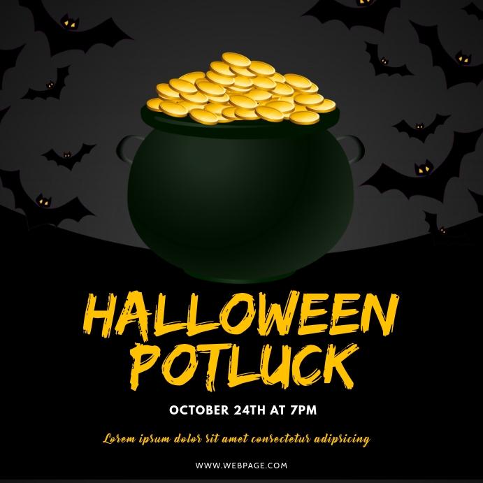 Halloween Potluck Instagram post template