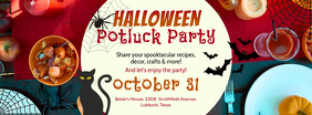 Halloween Potluck Party Facebook Cover Invitation Template