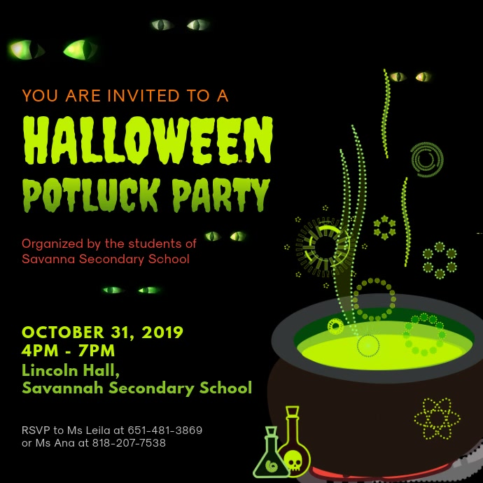 Halloween Potluck Party Video Ad