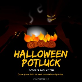 Halloween Potluck Video Promotion Instagram Square (1:1) template